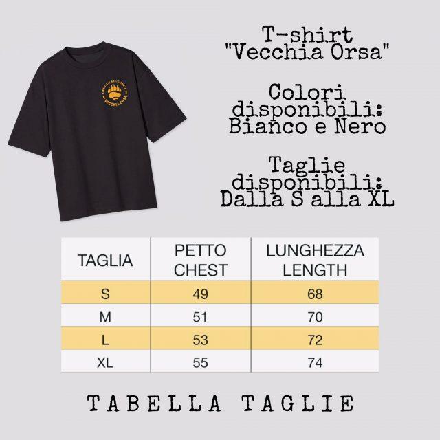 Tabella taglie T-shirt